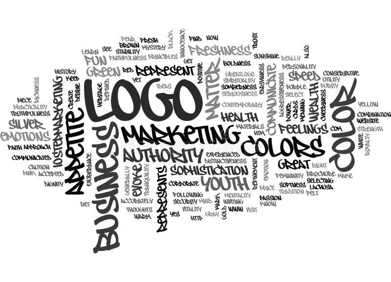 Qué hace su nube de la palabra del negocio de Logo Color Say About Your stock de ilustración