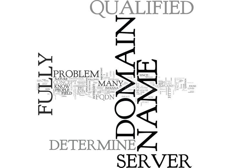 Qué lo hace malo no podría determinar la nube de la palabra del nombre de dominio completo del servidor S libre illustration