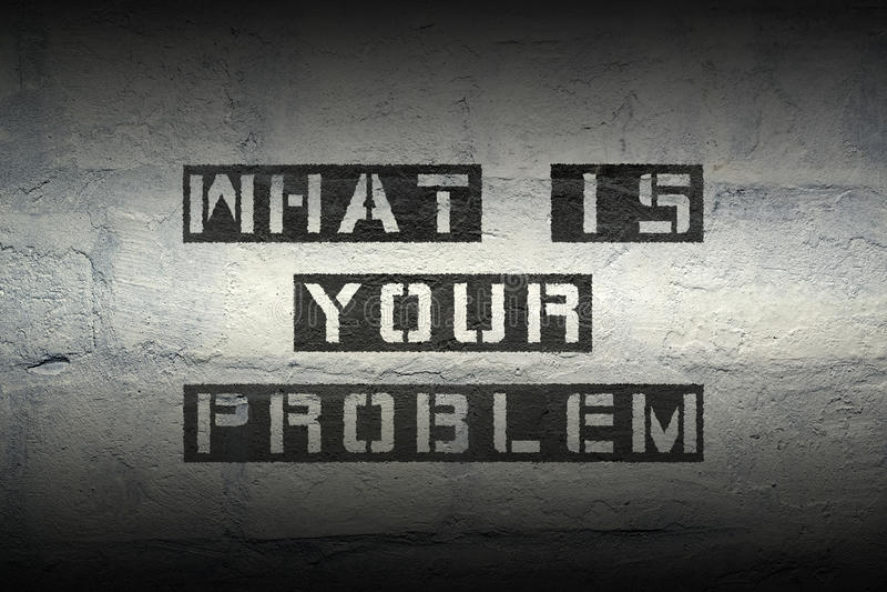 Qué ` s su problema imagen de archivo