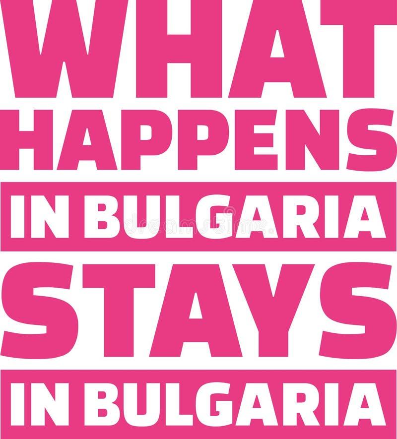 Qué sucede en las estancias de Bulgaria en Bulgaria stock de ilustración