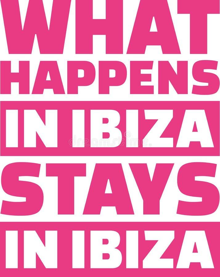 Qué sucede en las estancias de Ibiza en ibiza libre illustration