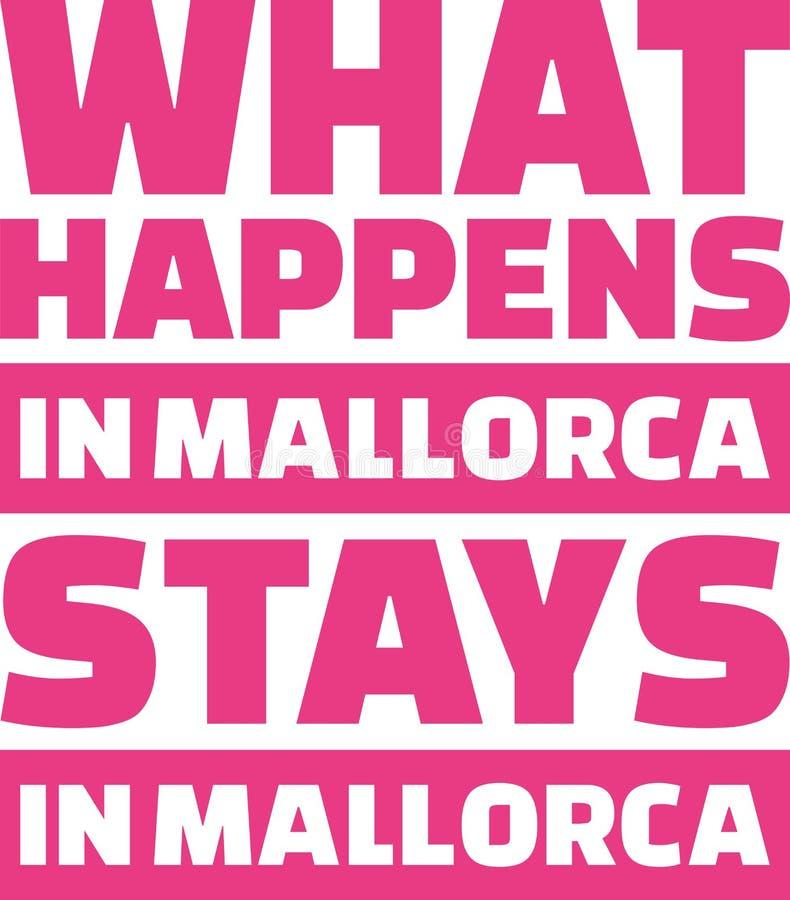Qué sucede en las estancias de Mallorca en Mallorca stock de ilustración