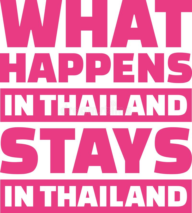 Qué sucede en las estancias de Tailandia en Tailandia ilustración del vector