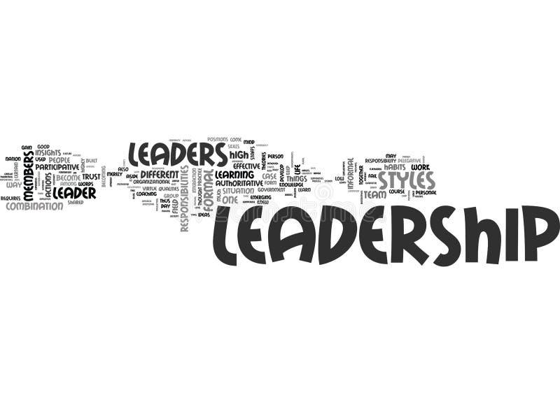 Qué usted debe conocer en la nube de Leadershipword stock de ilustración