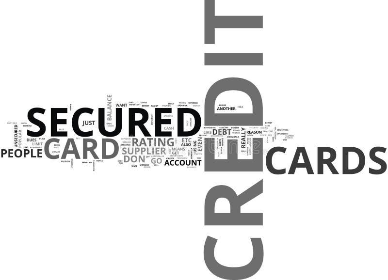 Qué usted significan por una nube asegurada de Cardword del crédito ilustración del vector