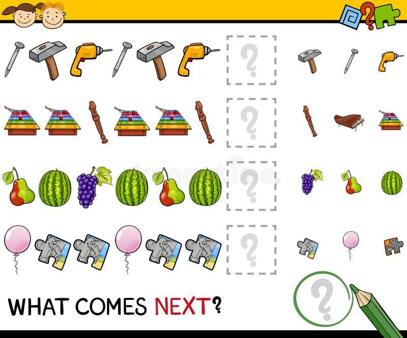 Qué viene historieta siguiente del juego ilustración del vector
