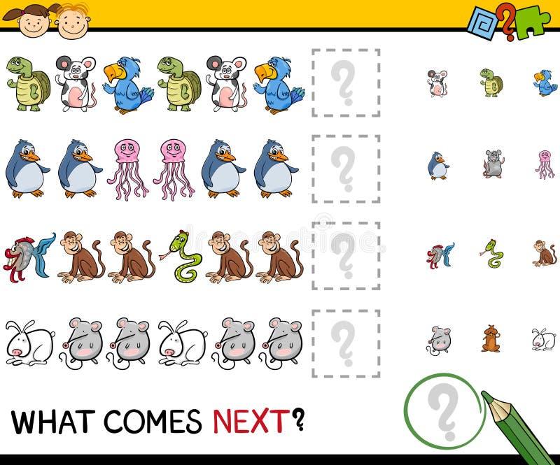 Qué viene historieta siguiente del juego stock de ilustración