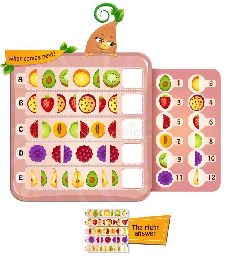 Qué viene la fruta siguiente 1 ilustración del vector