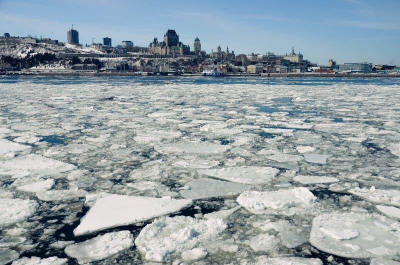 Québec et fleuve StLaurent, Québec, Canada, Amérique du Nord photo libre de droits