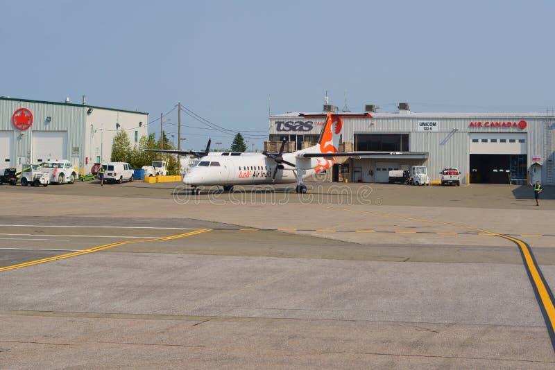 QUÉBEC-STADT, QUEBEC, KANADA - 26. JULI 2019: Luft Inuit in Québec-Stadt Jean Lesage International Airport stockfotografie