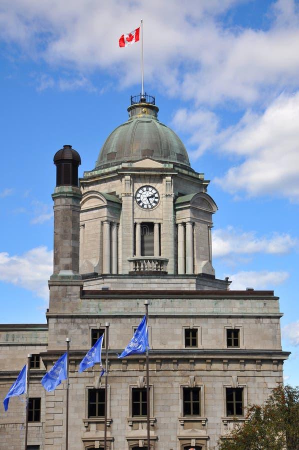 Québec-Stadtpost, Kanada lizenzfreie stockfotos