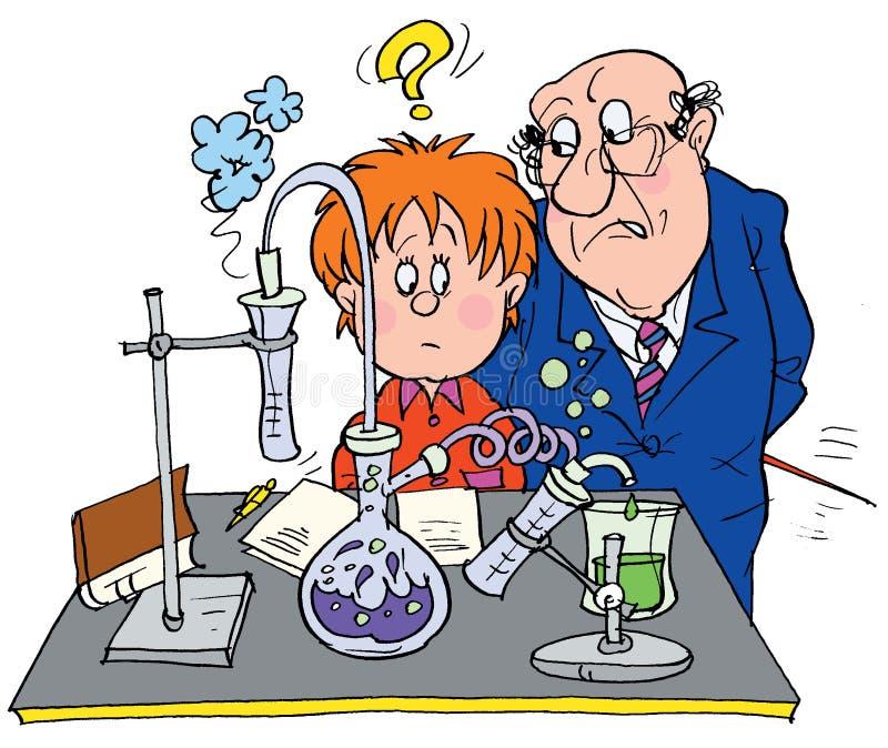 Cientista Engraçado Dos Desenhos Animados Com Um Ponto De ...
