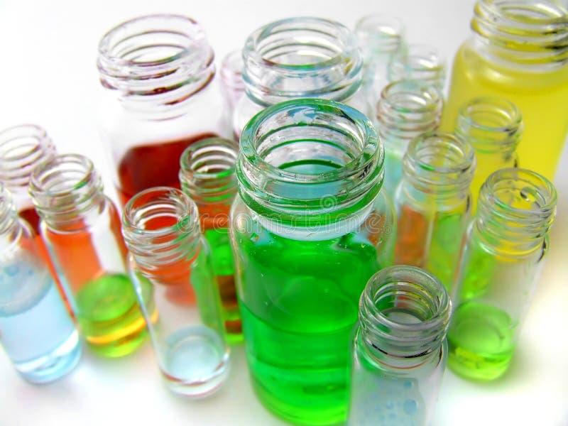 Química colorida foto de stock