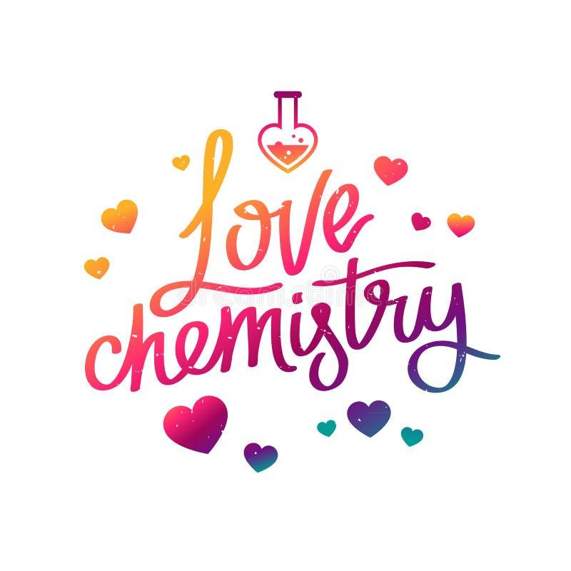 Química del amor La caligrafía de la tendencia libre illustration