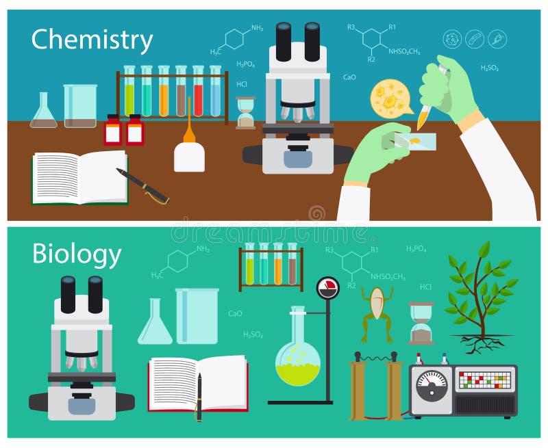 Química e biologia ilustração do vetor