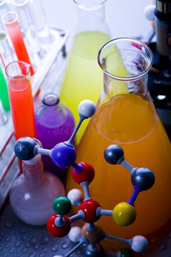 Química y biología fotografía de archivo