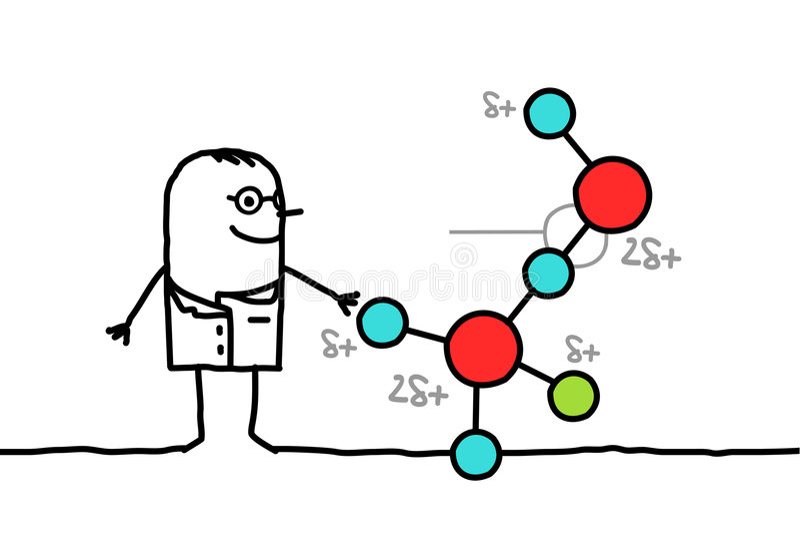 Químico ilustração stock