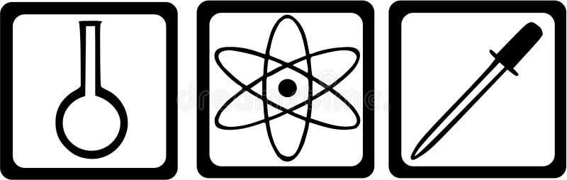 Químico Chemistry Laboratory stock de ilustración