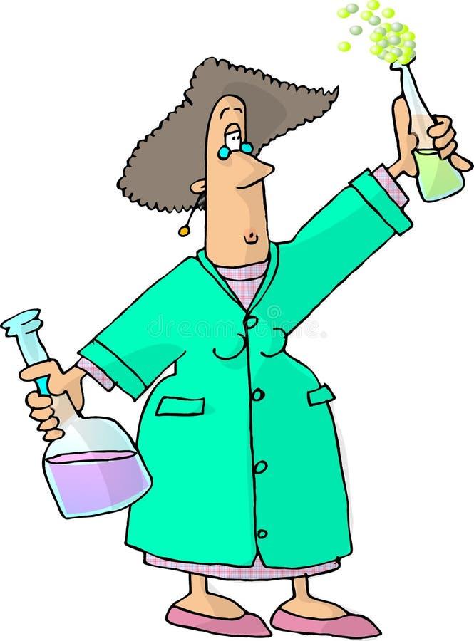 Químico de sexo femenino stock de ilustración