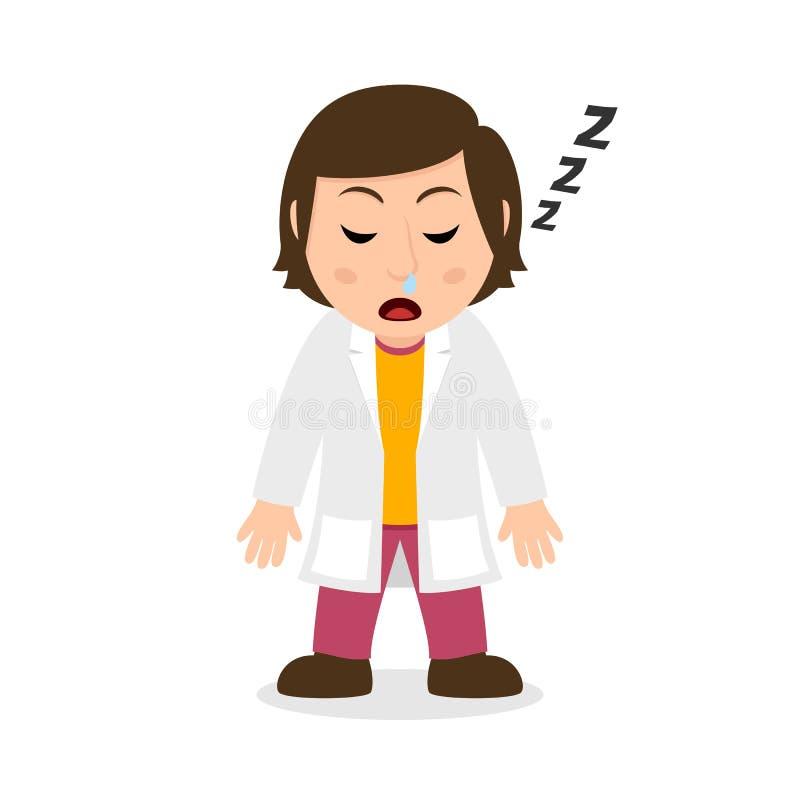 Químico durmiente Woman Character ilustración del vector