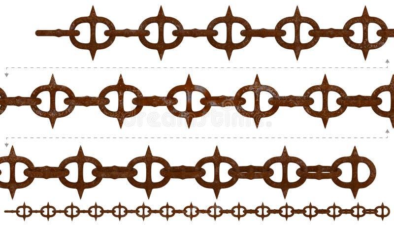 Qu'on peut répéter à chaînes en épi de rouille médiévale illustration stock