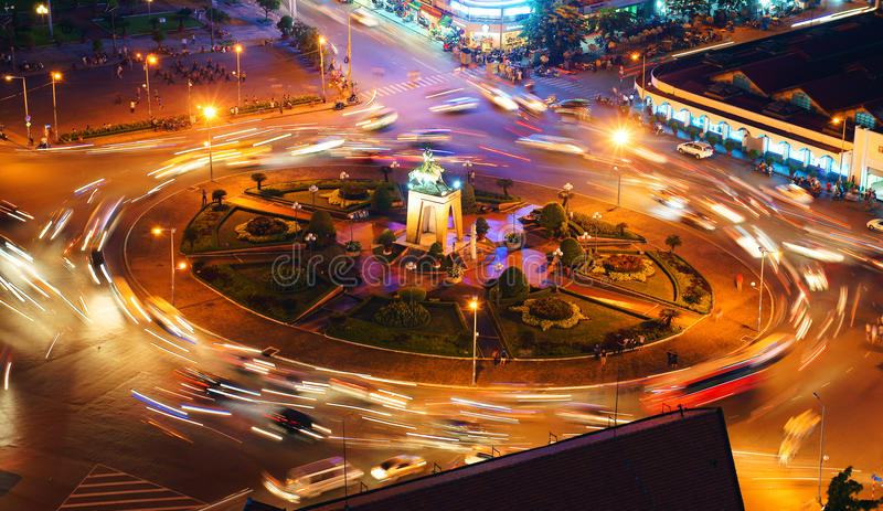 Quach Thi Trang rondo, Ho Chi Minh miasto obrazy royalty free