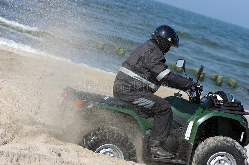 Download Quad on a beach (ATV) stock photo. Image of beach, sport - 4901590