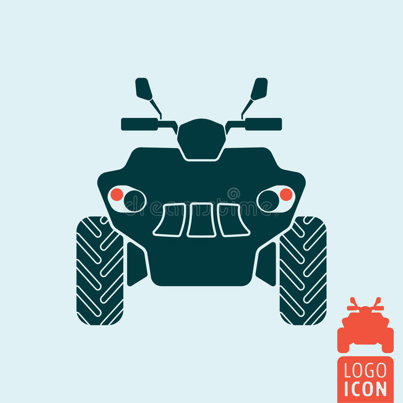 Quad bike icon stock illustration