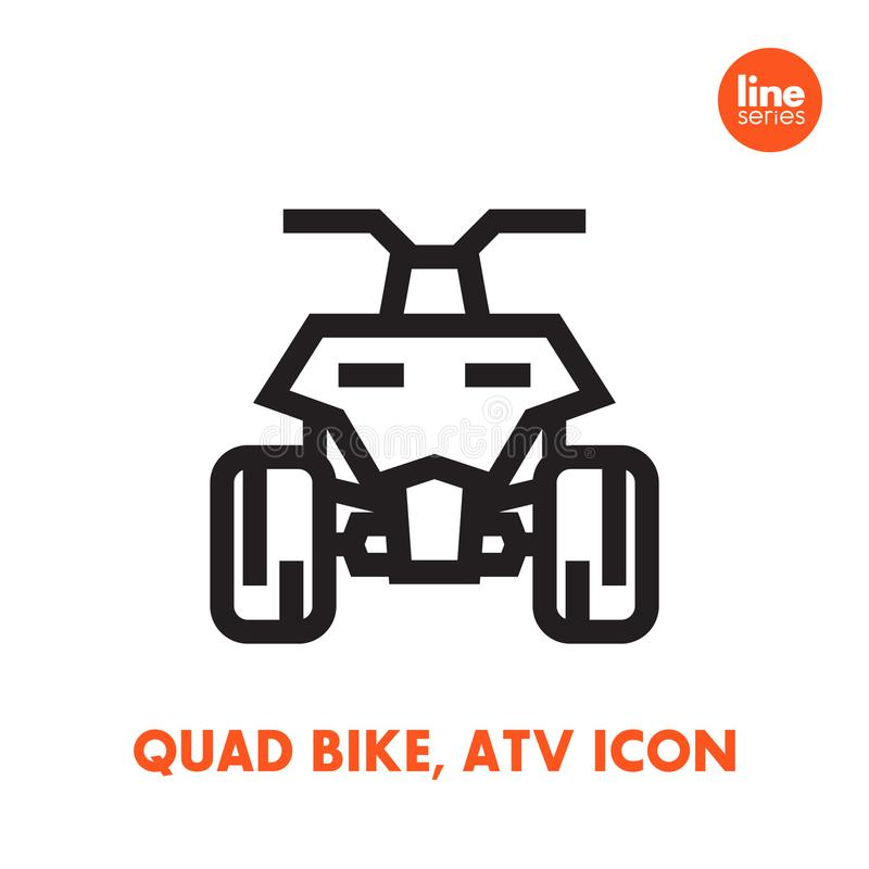 Quad bike icon, all terrain vehicle ATV royalty free illustration
