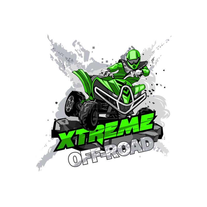 Quad Bike Off-Road ATV Logo, Extreme Off-Road. stock images