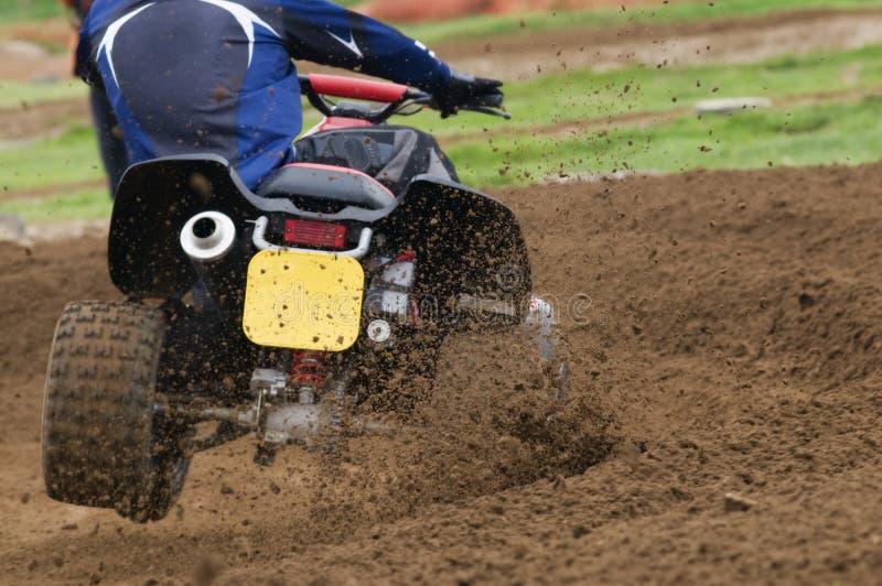 Quad Bike Racing stock photo