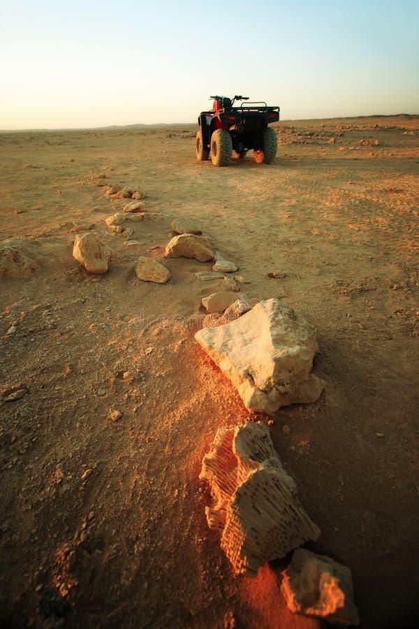 Quad Bikes In Desert Royalty Free Stock Photo