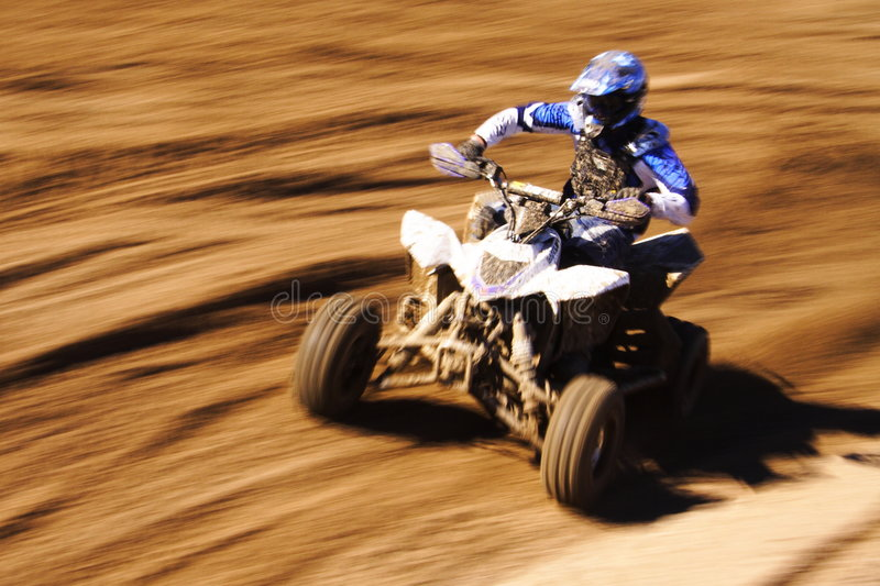 Quad blue speed royalty free stock images
