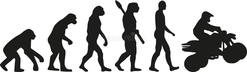 Quad evolution. Vector sports icon royalty free illustration