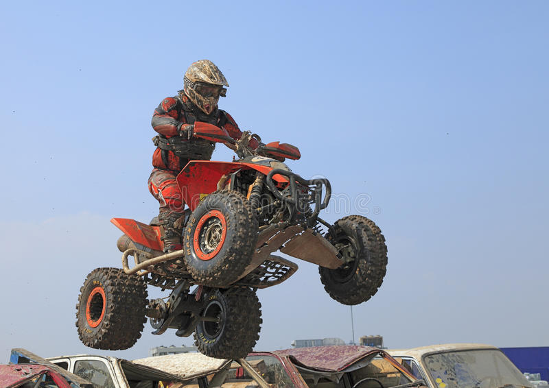 Download Quad jump editorial stock image. Image of offroad, high - 18221354