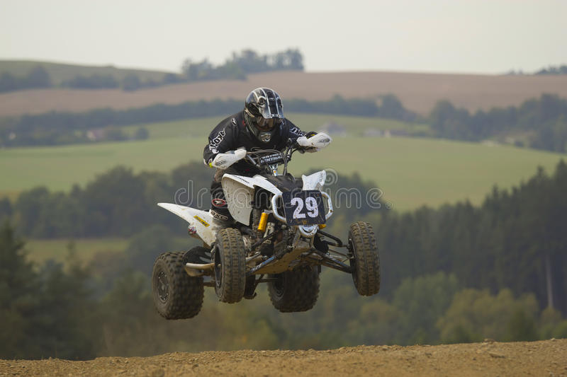 Download Quad jump editorial stock image. Image of bike, person - 21281124