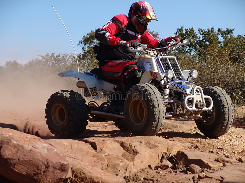 Quad motorcycle racing royalty free stock photos