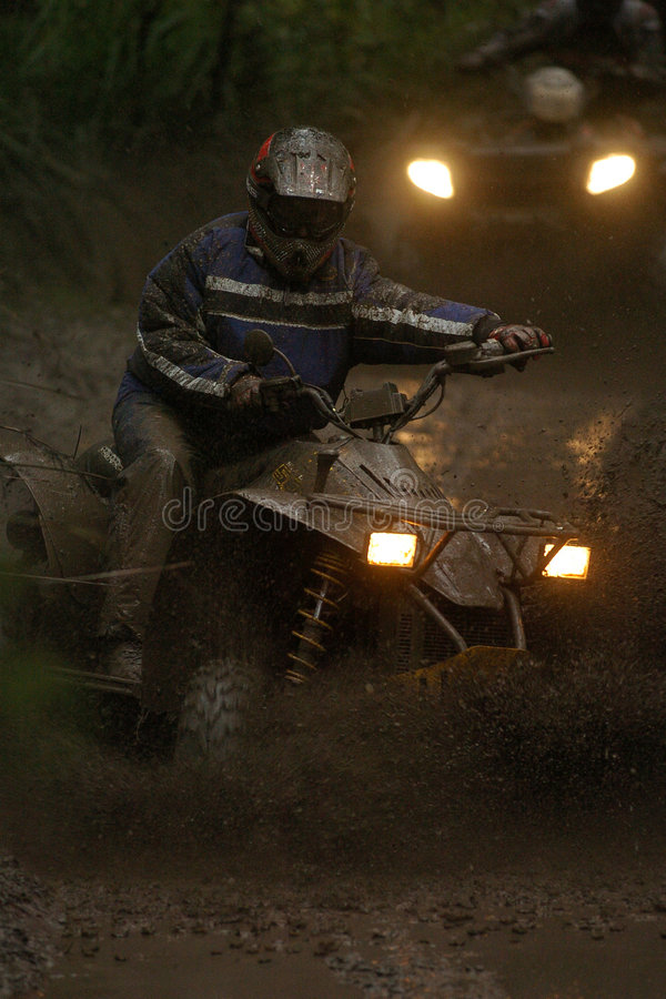 Download Quad mud 01 stock image. Image of bike, rain, biking, forest - 2389861