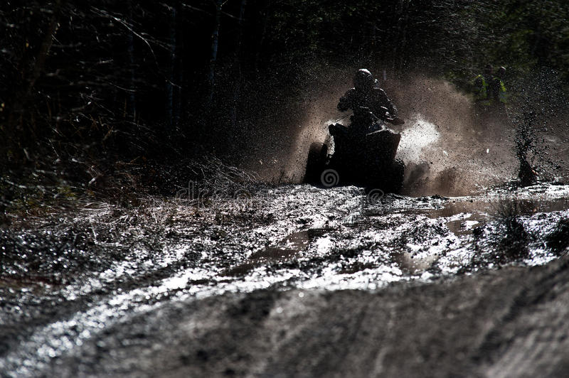 Download Quad in the mud stock image. Image of black, motor, cloudy - 23713721