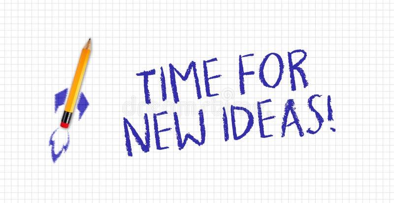 Quad- oder Quadrat-Whitepaper mit Raketentelefon und Nachrichtenzeit für neue Ideen lizenzfreie stockfotografie