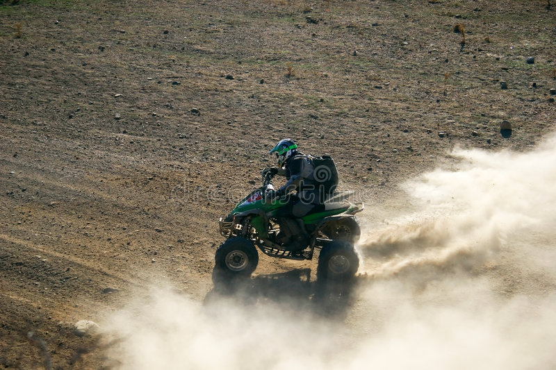 Download Quad Racer En Route Stock Image - Image: 7037021
