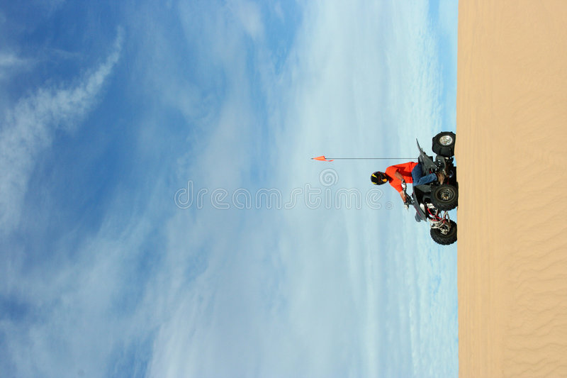 Quad Rider At Sand Dunes Royalty Free Stock Photography