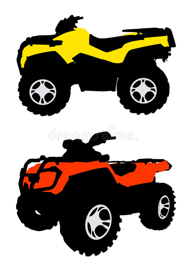quadbike stock illustrationer