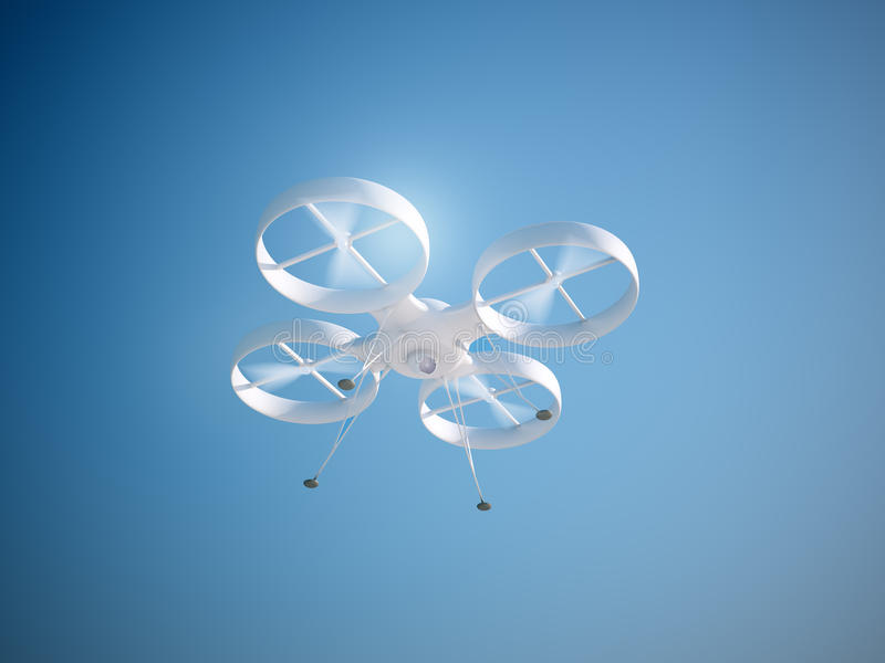 Quadcopter寄生虫 库存例证
