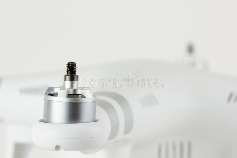 Quadcopter马达 免版税库存照片