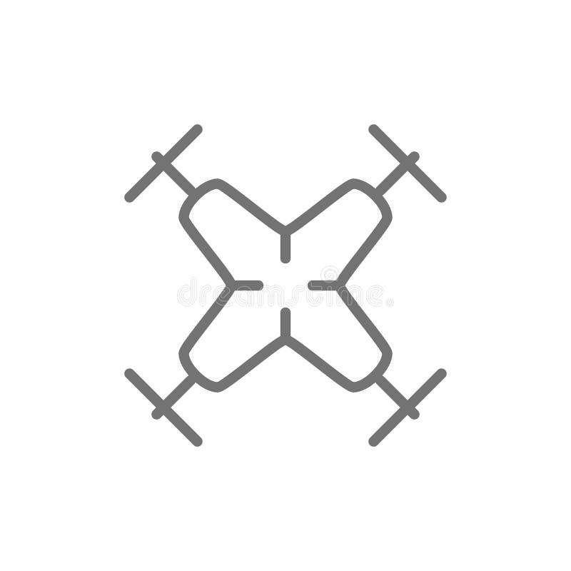 Quadcopter,寄生虫线象 皇族释放例证