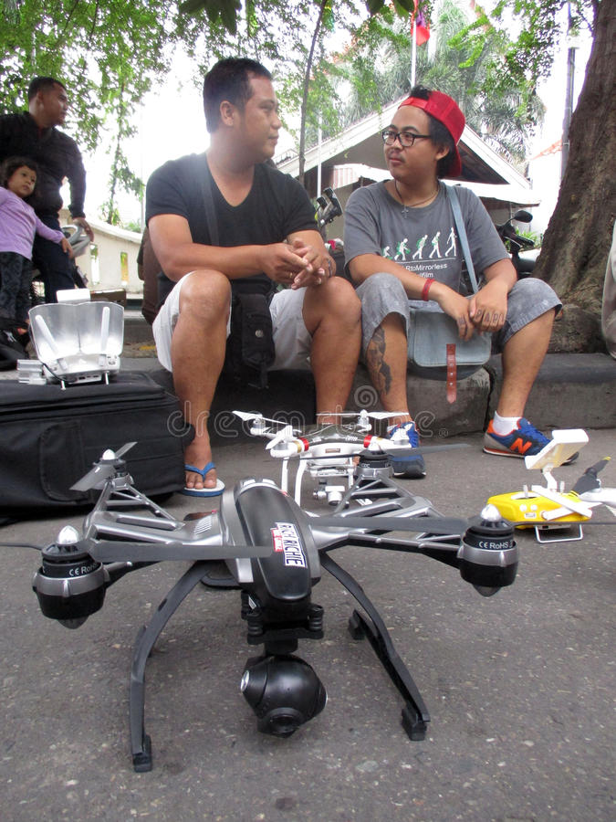 Quadcopter стоковое изображение