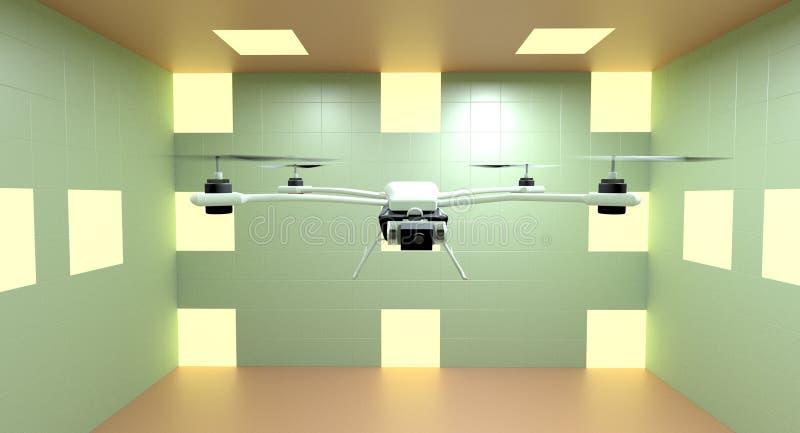 Quadcopter 3d ilustrator obraz royalty free