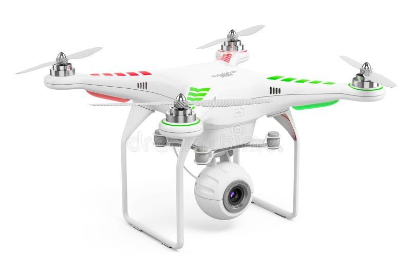 Quadcopter del abejón con la cámara de vídeo 4k stock de ilustración