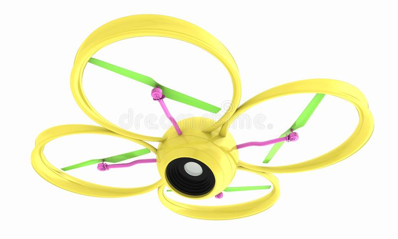 The Quadcopter Dron. 3d render stock illustration